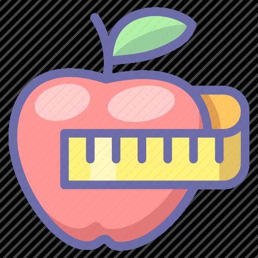 apple, fitness, health icon