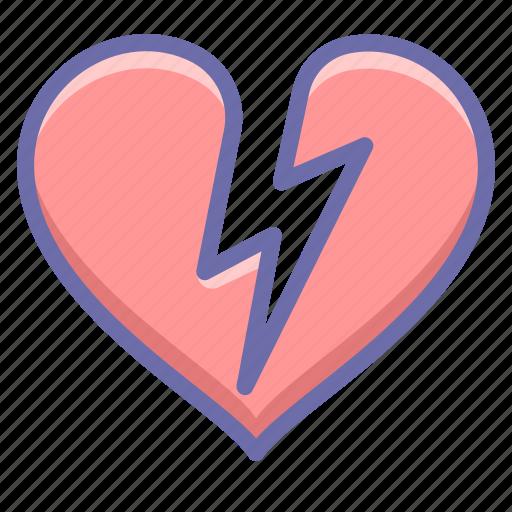 heart attack, infarct, love icon