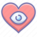 eye, heart, love icon