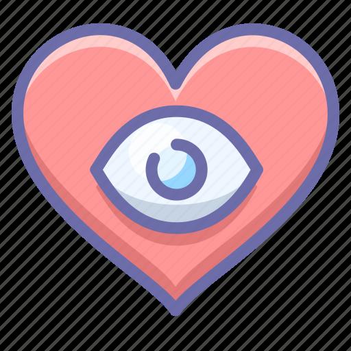 eye, heart, love icon