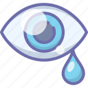 drops, eye, pain, sadness, tears icon