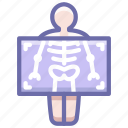 chest, medicine, ribs, roentgen, xray icon