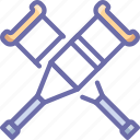 crutches, help icon
