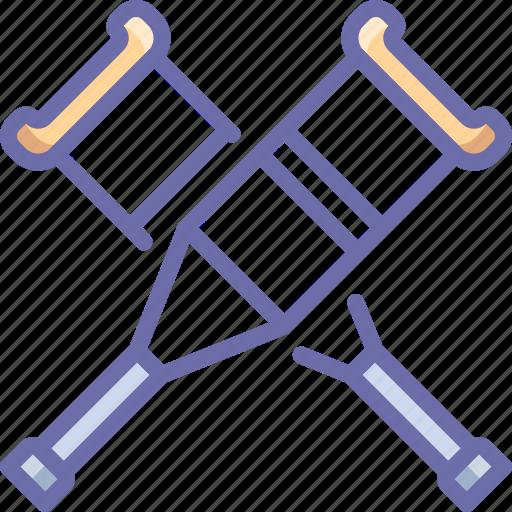 crutches, help icon
