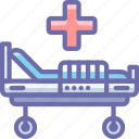 bed, hospital, medicine, treatment icon