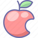 apple, fruit, intellect icon