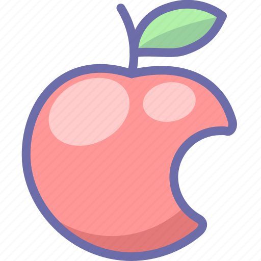 apple, fruit, intellect icon