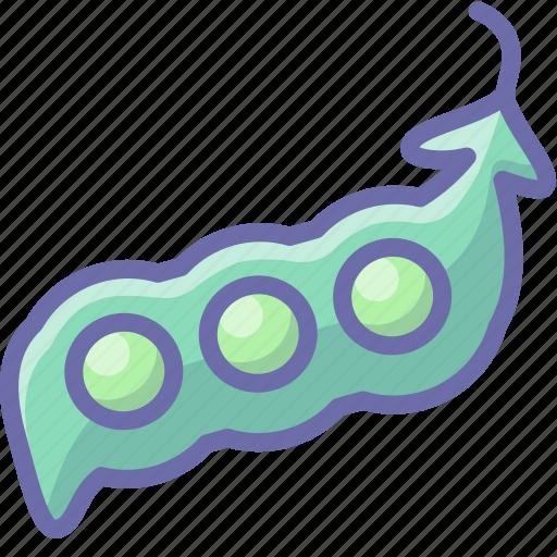 peas, pod, vegetable icon