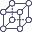 crystal, lattice, molecular, molecules, physics, science icon