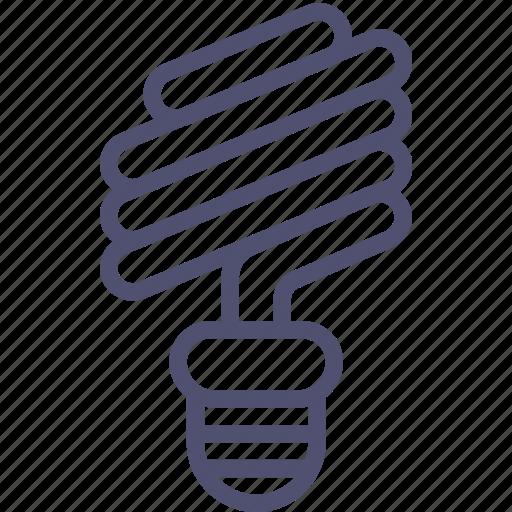 energy, lamp, light, saving, spiral icon