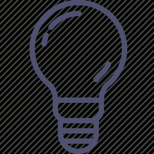 idea, incandescent, lamp, light, spherical icon