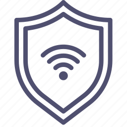 connection, defense, firewall, guard, guardian, internet, protect, protection, secure, security, shield, wifi icon