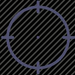 aim, goal, gun, mark, target icon