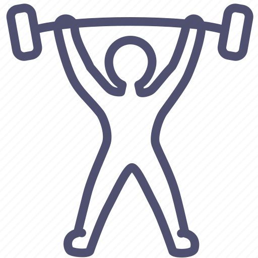 barbell, competition, games, gym, heaviness, human, olympic, powerlift, powerlifting, rod, sport, weight, weightlift, weightlifting icon