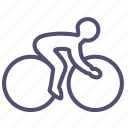 bicyclist, bike, cycling, games, olympic, sport icon