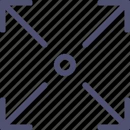 arrow, expand, fullscreen, scale, zoom icon