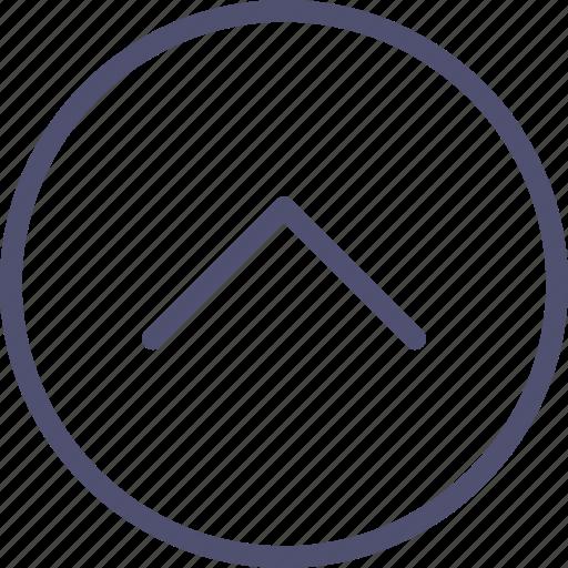 arrow, circle, home, prev, previous, top, up icon