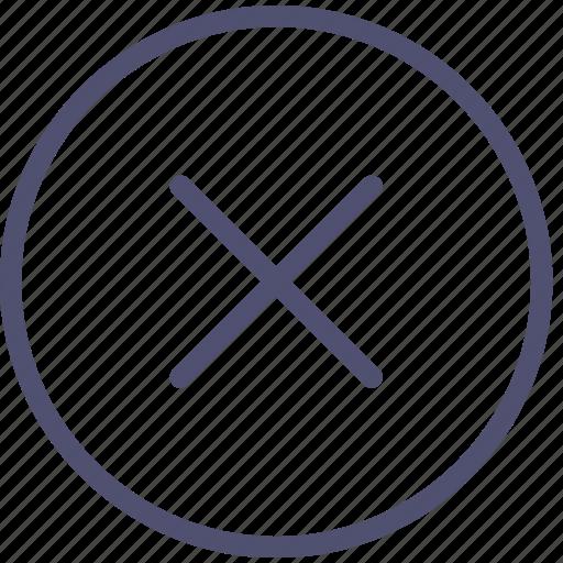 circle, close, delete icon