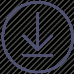 circle, download icon