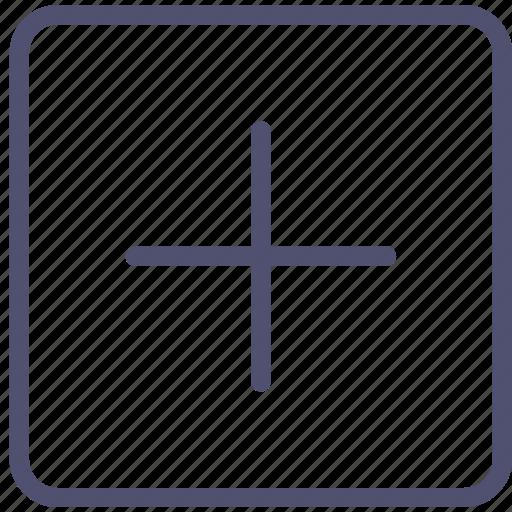 add, addition, cross, more, plus, square icon