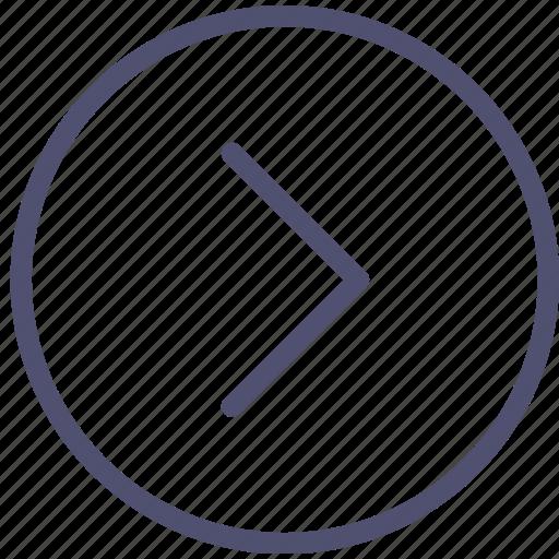 arrow, circle, end, next, right icon