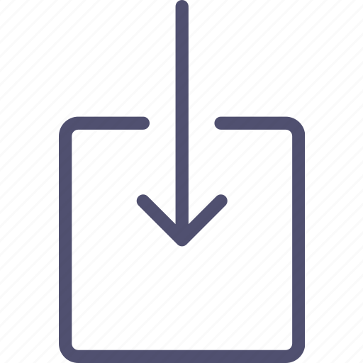 arrow, enter, incoming, input, inside, mail, receive icon