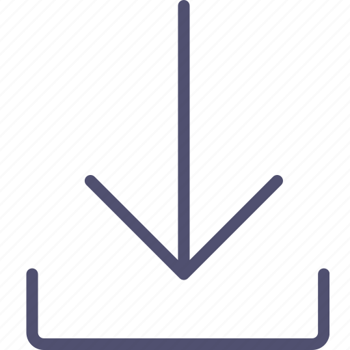 arrow, download, sign icon