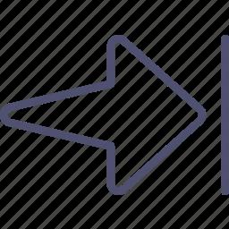 arrow, end, finish, rewind icon