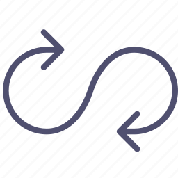 arrow, loop, mode, play, sign icon