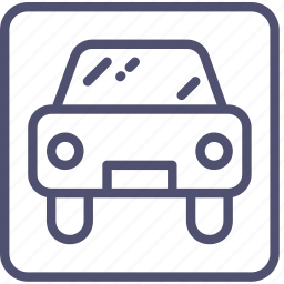car, park, parking, sign, square icon