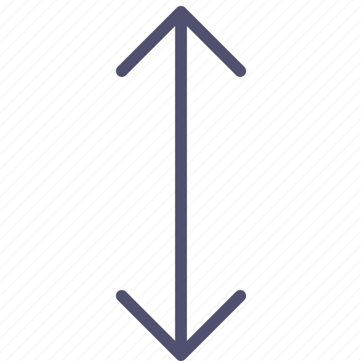 arrow, down, move, scale, transform, up, vertical icon