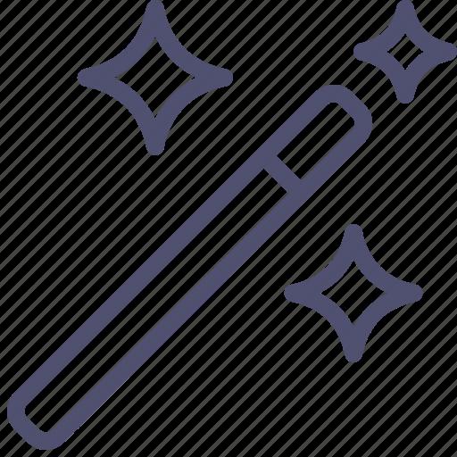 magic, stars, stick, tool, wand, wizard icon