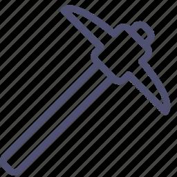 miner, pick, tool icon