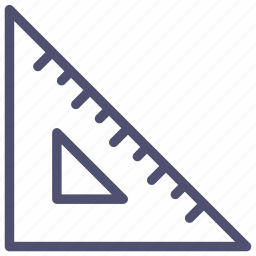 measure, rule, ruler, scale, tool, triangle icon