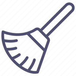 broom, clean, clear, tool icon