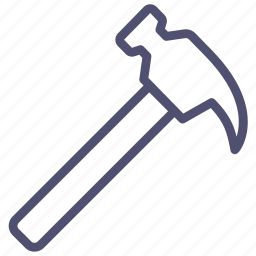 hammer, joinery, nail, puller, tool icon
