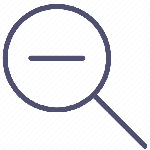 Search, out, lense, tool, zoom icon