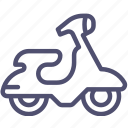 motor, scooter, transport