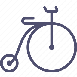 bicycle, retro, sport, transport icon