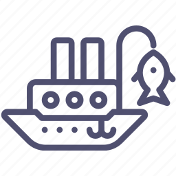 fisherman, marine, nautical, ship, vessel icon