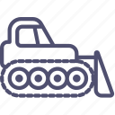 bulldozer, caterpillar, construction, dozer, equipment, industrial icon