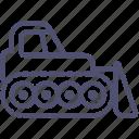 bulldozer, caterpillar, construction, dozer