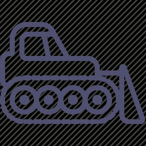bulldozer, caterpillar, construction, dozer, equipment, industrial icon