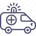 ambulance, car, transport icon