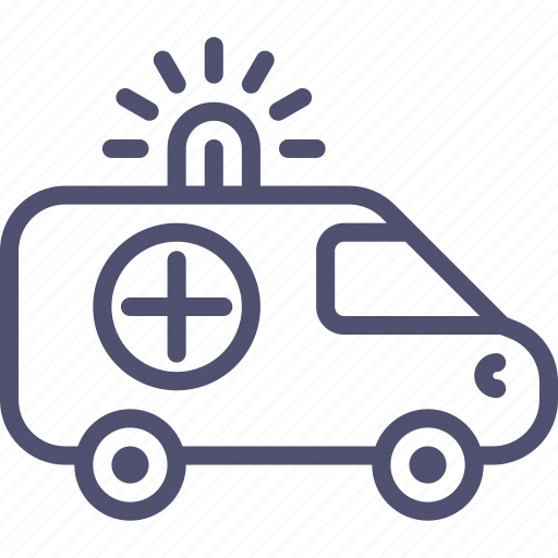 ambulance, car, transport icon