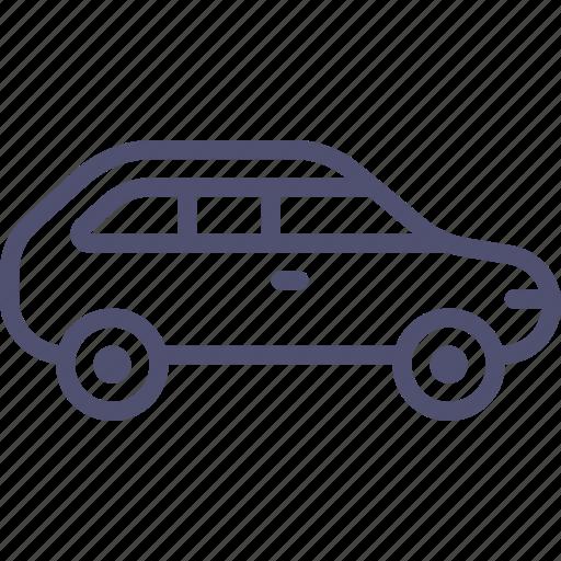 car, combi, hatchback icon