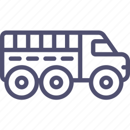 military, truck, vehicle icon