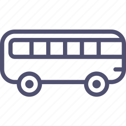 autobus, bus, transport, vehicle icon