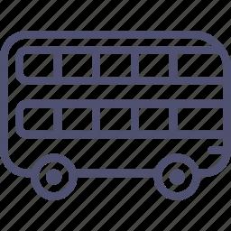 decker, double, london, transport, vehicle icon