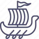 rowing, shallop, ship, slavs, viking icon